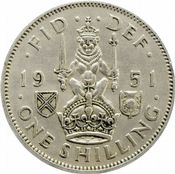 1937 to 1951 Scottish Shilling George VI Grades From Fine to EF